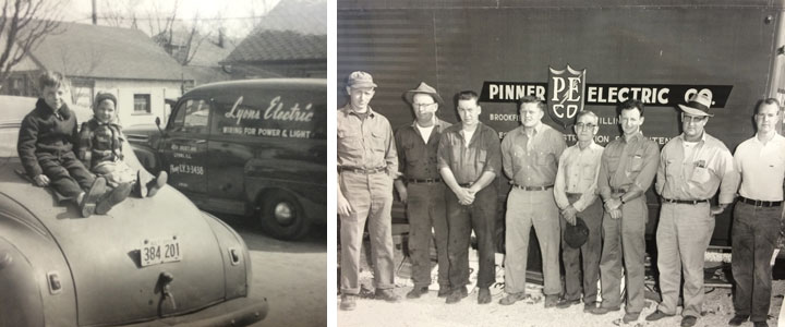 Early days of Lyons Electric (left) and Pinner Electric (right)